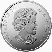Canada 200 Dollars Coastal Waters of Canada 2015 Matte Proof KM# 1878 ELIZABETH II D ∙ G ∙ REGINA coin obverse