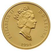 Canada 200 Dollars Interpretation of novel by Lucy Maud Montgomery - Anne of Green Gables 1994 Proof KM# 250 ELIZABETH II D ∙ G ∙ REGINA 1994 coin obverse