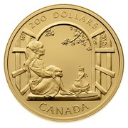 Canada 200 Dollars Interpretation of novel by Lucy Maud Montgomery - Anne of Green Gables 1994 Proof KM# 250 200 DOLLARS CANADA coin reverse