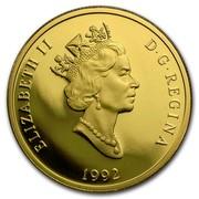 Canada 200 Dollars Niagara Falls 1992 Proof KM# 230 ELIZABETH II D∙G∙REGINA 1992 coin obverse