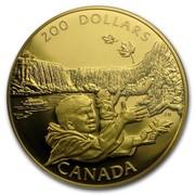 Canada 200 Dollars Niagara Falls 1992 Proof KM# 230 200 DOLLARS CANADA coin reverse