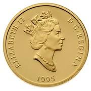 Canada 200 Dollars The Sugar Bush 1995 Proof KM# 265 ELIZABETH II D ∙ G ∙ REGINA 1995 coin obverse