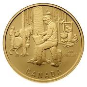 Canada 200 Dollars The Sugar Bush 1995 Proof KM# 265 200 DOLLARS CANADA coin reverse