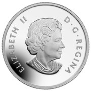 Canada 200 Dollars Towering Forests of Canada 2014 Matte Proof KM# 1741 ELIZABETH II D ∙ G ∙ REGINA coin obverse