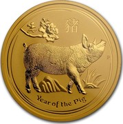 Australia 200 Dollars Year of the Pig 2019 YEAR OF THE PIG P coin reverse