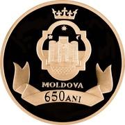 Moldova 200 Lei 650 years of Moldova 2009 Mint Set MOLDOVA 650 ANI coin reverse