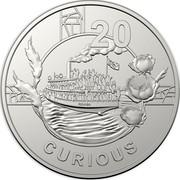 Australia 20c Anzac Spirit - Curious 2018 20 CURIOUS coin reverse