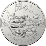 Australia 20c Anzac Spirit - Disciplined 2018 20 DISCIPLINED coin reverse