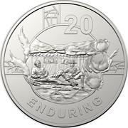 Australia 20c Anzac Spirit - Enduring 2018 20 ENDURING coin reverse