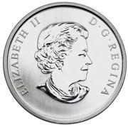 Canada 25 Cents 75th Anniversary of CBC Radio-Canada 2011 KM# 1192 ELIZABETH II D∙G∙REGINA coin obverse