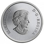 Canada 25 Cents American Robin 2013 Specimen KM# 1373 ELIZABETH II D∙G∙REGINA coin obverse