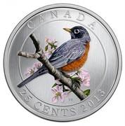 Canada 25 Cents American Robin 2013 Specimen KM# 1373 CANADA TT 25 CENTS 2013 coin reverse
