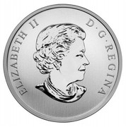 Canada 25 Cents Mallard Duck 2013 Specimen KM# 1354 ELIZABETH II D∙G∙REGINA coin obverse