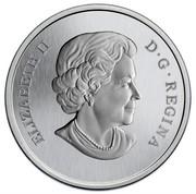 Canada 25 Cents Purple Coneflower & Eastern Tailed Blue 2013 Specimen KM# 1353 ELIZABETH II D∙G∙REGINA coin obverse