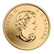 Canada 25 Cents Wayne Gretzky 2011 Specimen KM# 1172 ELIZABETH II D∙G∙REGINA coin obverse