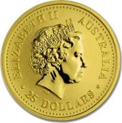 Australia 25 Dollars Year of the Pig 2007 P Proof ELIZABETH II AUSTRALIA 25 DOLLARS IRB coin obverse