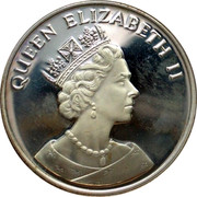 UK 25 Euro Hong Kong returns to China (Qeen Elizabeth II) 1997 QUEEN ELIZABETH II coin obverse