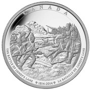 Canada 250 Dollars Battle of Niagara Falls 2014 Proof CANADA THE BATTLE OF LUNDY'S LANE 1814 - 2014 LA BATAILLE DE LUNDY'S LANE coin reverse