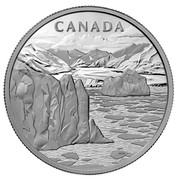 Canada 250 Dollars Canada's Arctic Landscape 2013 Proof KM# 1371 CANADA WDW coin reverse
