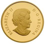 Canada 250 Dollars Dog Sled Team 2006 Proof KM# 677 ELIZABETH II D∙G∙REGINA coin obverse