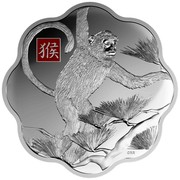 Canada 250 Dollars Lunar Lotus Year of the Monkey 2016 Proof CRR coin reverse