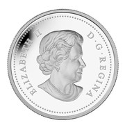 Canada 250 Dollars The Moose Family - Robert Bateman 2012 Proof KM# 1277 ELIZABETH II D∙G∙REGINA coin obverse