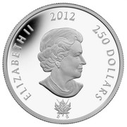 Canada 250 Dollars The War of 1812 - The Battle of Queenston Heights 2012 Proof KM# 1340 ELIZABETH II 2012 250 DOLLARS 1812 SB coin obverse
