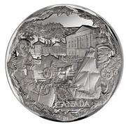 Canada 250 Dollars Towards Confederation 2008 Proof KM# 833 CANADA coin reverse