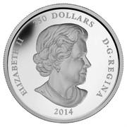 Canada 250 Dollars Year of the Horse 2014 Proof KM# 1518 ELIZABETH II 250 DOLLARS D·G·REGINA 2014 SS coin obverse