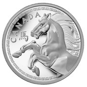 Canada 250 Dollars Year of the Horse 2014 Proof KM# 1518 CANADA coin reverse
