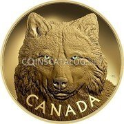 Canada 2500 Dollars (In the Eyes of the Timber Wolf)  coin reverse