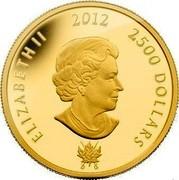 Canada 2500 Dollars King George III 2012 Proof ELIZABETH II 2012 2500 DOLLARS SB coin obverse