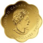 Canada 2500 Dollars Lunar Lotus Year of the Monkey 2016 Proof with Enamel ELIZABETH II CANADA 2016 D∙G∙REGINA 2500 DOLLARS coin obverse