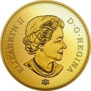 Canada 2500 Dollars Tribute to the First Canadian Gold Coin 2017 Proof ELIZABETH II D • G • REGINA SB coin obverse