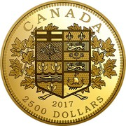 Canada 2500 Dollars Tribute to the First Canadian Gold Coin 2017 Proof CANADA 2017 2500 DOLLARS coin reverse