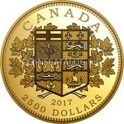 Canada 2500 Dollars (Tribute to the First Canadian Gold Coin)  coin reverse