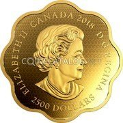 Canada 2500 Dollars (Year of the Dog)  coin obverse