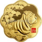 Canada 2500 Dollars (Year of the Dog)  coin reverse