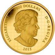 Canada 2500 Dollars Year of the Sheep 2015 Proof ELIZABETH II 2500 DOLLARS D∙G∙REGINA 2015 coin obverse
