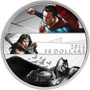 Canada 30 Dollars Batman vs Superman Dawn of Justice 2016 Proof KM# 2137 2016 30 DOLLARS coin reverse