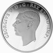Canada 30 Dollars Canadas Merchant Navy in the Battle of the Atlantic 2015 Proof KM# 1871 GEORGIVS VI D : G : REX ET IND :IMP: coin obverse