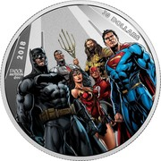Canada 30 Dollars The Justice League: The World's Greatest Super Heroes 2018 Proof 30 DOLLARS 2018 FABOK ANDERSON ©DC coin reverse