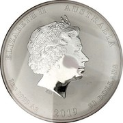 Australia 30 Dollars Year of the Pig 2019 Proof ELIZABETH II AUSTRALIA 1 KG 9999 AG 2019 30 DOLLARS IRB coin obverse