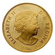Canada 300 Dollars 1870 Shinplaster Vignette 2005 Proof KM# 596 ELIZABETH II D∙G∙REGINA coin obverse