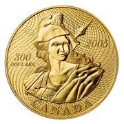 Canada 300 Dollars 1870 Shinplaster Vignette 2005 Proof KM# 596 300 DOLLARS 2005 CANADA coin reverse