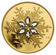 Canada 300 Dollars Crystal Snowflake 2006 Proof KM# 680 KW coin reverse