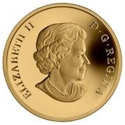 Canada 300 Dollars Ontario Coat of Arms 2013 Proof KM# 1571 ELIZABETH II D ∙ G ∙ REGINA coin obverse