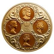 Canada 300 Dollars Quadruple Cameo Portraits 2004 Proof KM# 517 EIIR CANADA coin obverse