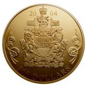 Canada 300 Dollars Quadruple Cameo Portraits 2004 Proof KM# 517 2004 300 DOLLARS coin reverse