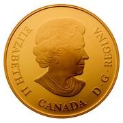 Canada 300 Dollars Queen's 80th Birthday 2006 Proof KM# 679 ELIZABETH II D ∙ G ∙ REGINA CANADA coin obverse
